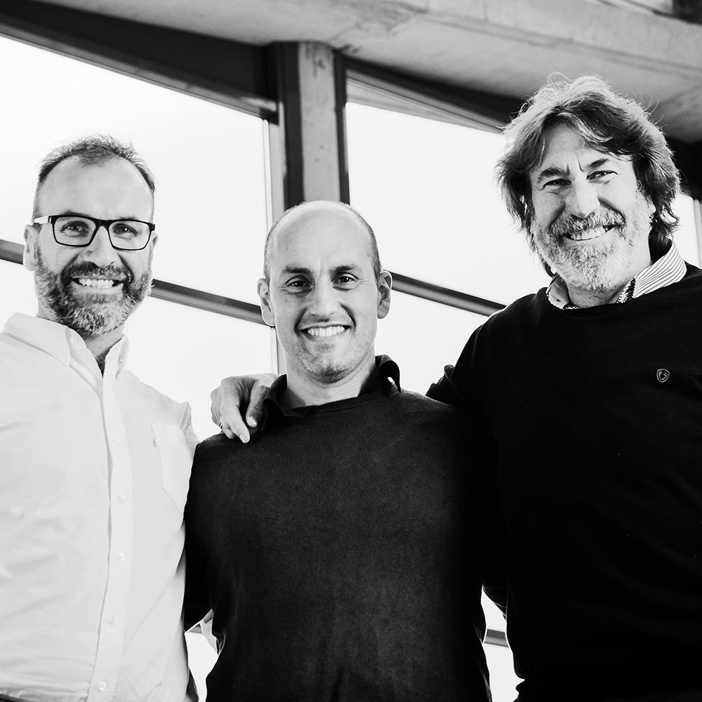 Urkko Zabaleta con Kepa y Javier Vitoria