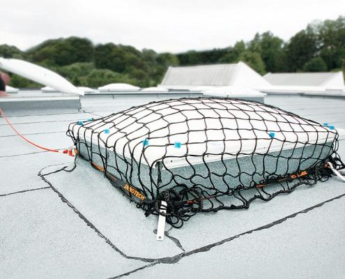Protección de claraboya temporal