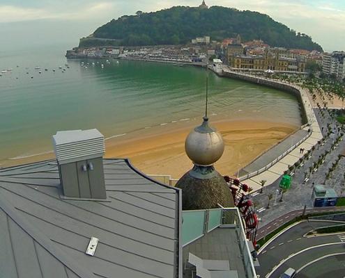 Línea de vida horizontal de Innotech en el Hotel Londres de Donostia-San Sebastián